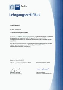 Zertifikat Qualitätsmanager_Sarrazin_geb_Wiemann