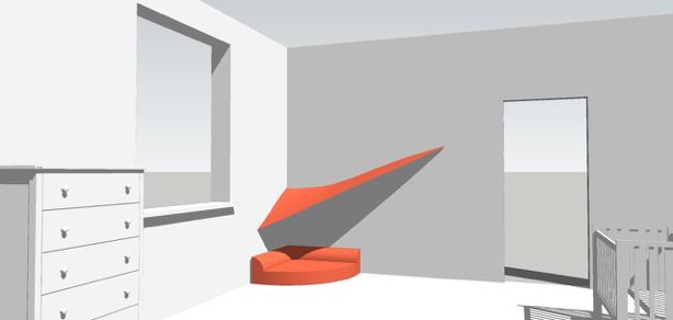 © planen pro qm - Kuschel-/Spielecke mit Stoffsegel spielen und ausruhen in geborgener Atmosphäre